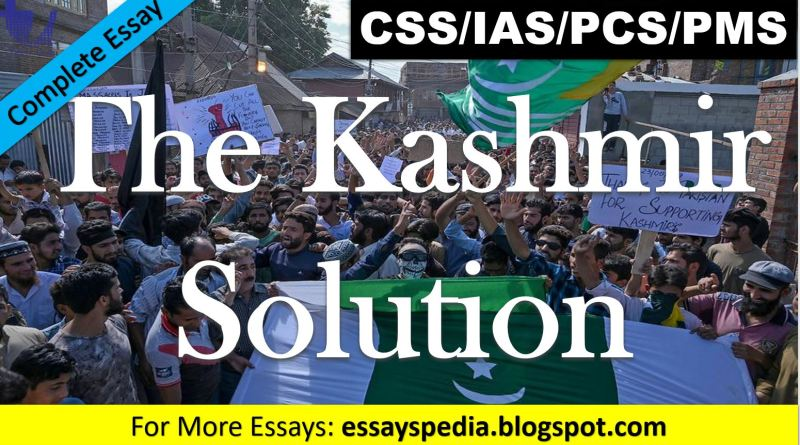 The Kashmir Solution | Complete Free Essay with Outline - techurdu.net