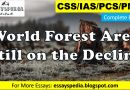 World Forest Area Still on the Decline   Complete Essay with Outline - tech urdu