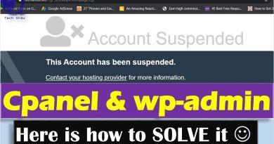 Account Suspension - Cpanel & wp-admin Suspended - techurdu.net