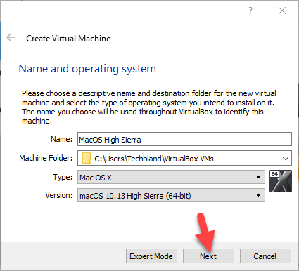 Operating System name