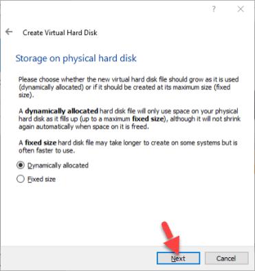 Virtual Machine Storage on physical hard Disk