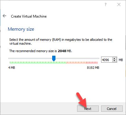 Virtual Machine Memory Size