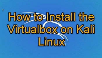 Virtualbox for Kali Linux