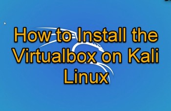 Virtualbox for Kali Linux