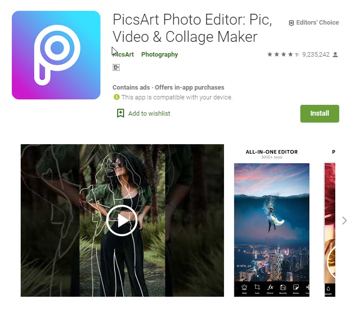 best app for photo editing android