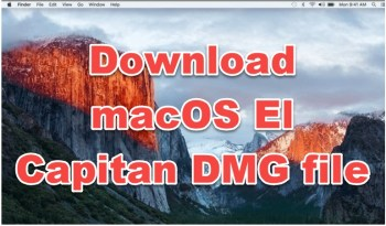 download macOS el capitan dmg file
