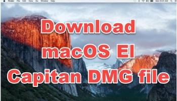 download macOS el capitan dmg file
