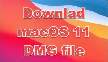 download macOS 11 Big Sur DMG file