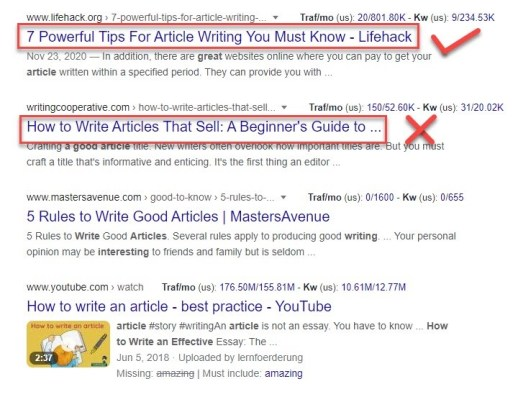 write a piece that stands out
