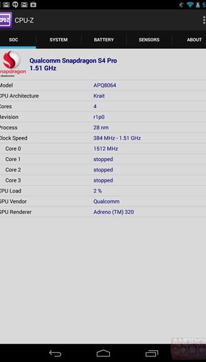 new nexus 7 cpuz 2013
