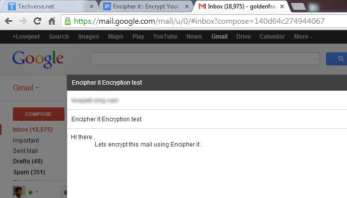 encipher compose mail