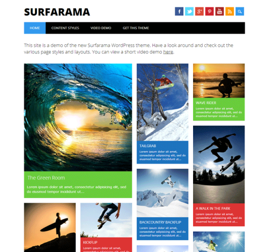 Surfarama-WordPress-Theme