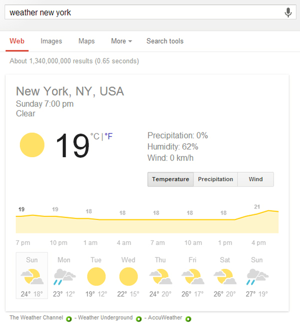 google-search-shortcut-weather-forecast