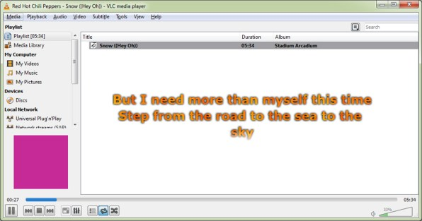 display-lyrics-in-vlc-media-player