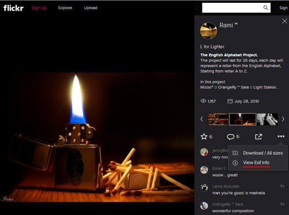 how-to-view-lens-used-to-capture-photograph-on-flickr-exif