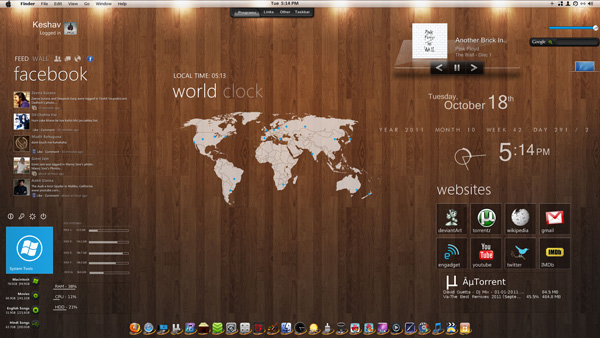 mac os for windows 7 by imcoolkk d498clt 20 Best Windows 7 Themes Collection for your Desktop   February 2014