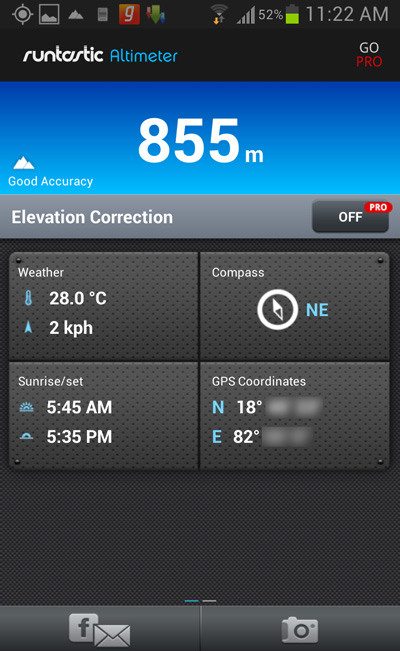 How To Find Your Altitude From The Sea Level Using An Android Phone - Elevation finder app