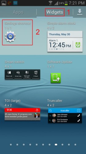 add-android-setting-shortcuts-to-homescreen-widget