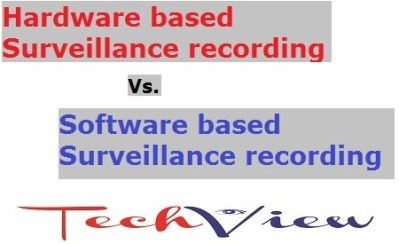 Hardware based Vs. Software based Surveillance recording