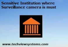 Sensitive Institution where surveillance camera is must