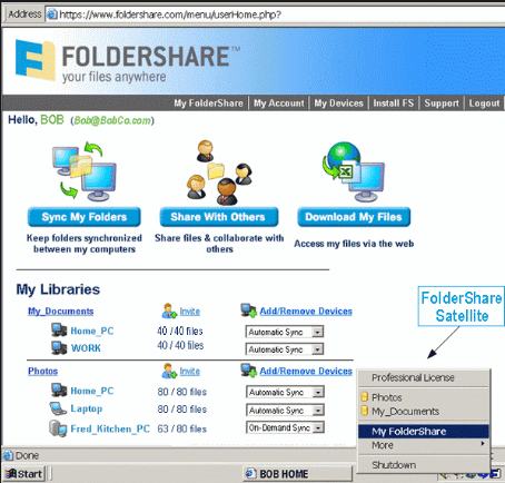 Windows Live Foldershare