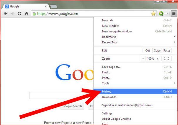 Google Chrome History