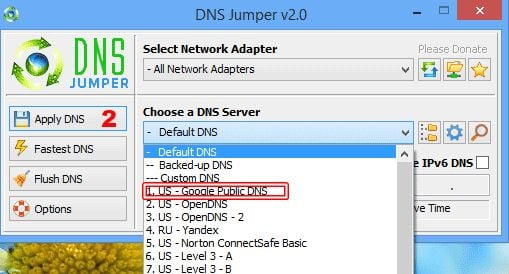 Change Default DNS to Google DNS for Faster Internet