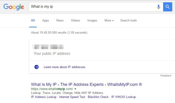 Find out Your IP Address