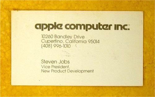Steve Jobs: Apple