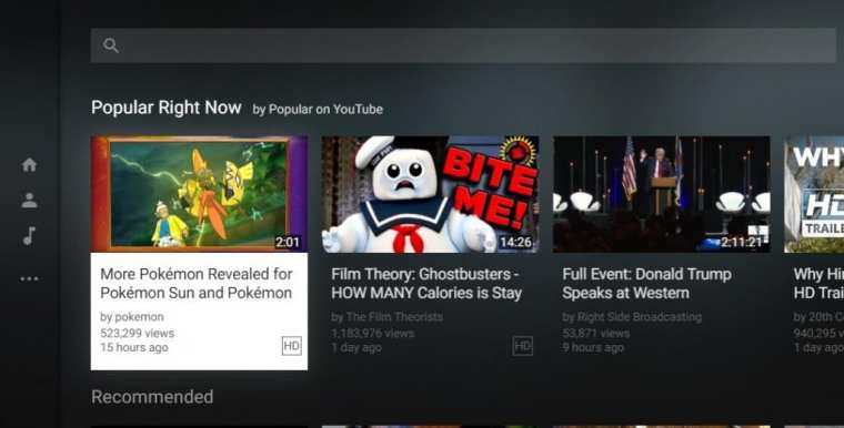 Operasikan Youtube melalui keyboard Anda