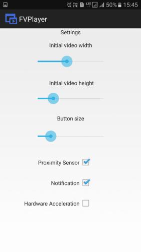 Utilisation du lecteur vidéo flottant FVPlayer
