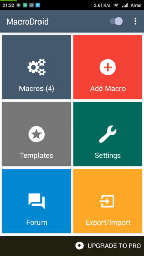 Tap on the 'Add Macro' button