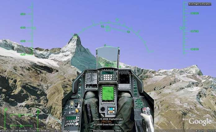 Google Earth Flight Simulator - google games