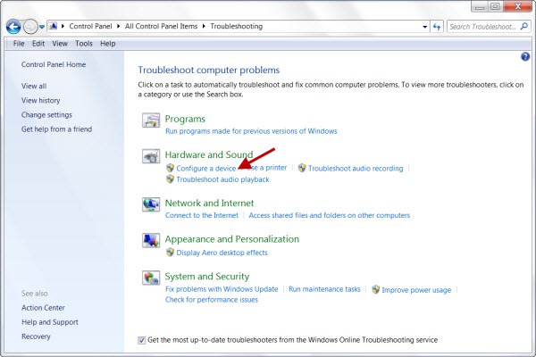 Using Troubleshooter