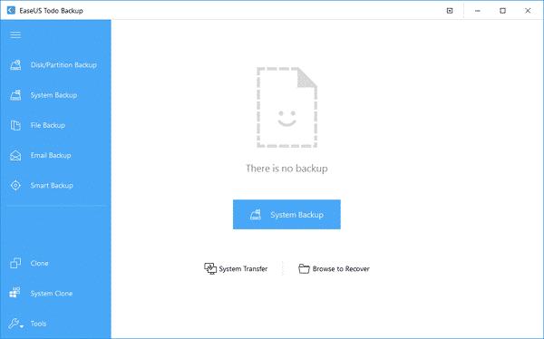 Click on 'System Backup'