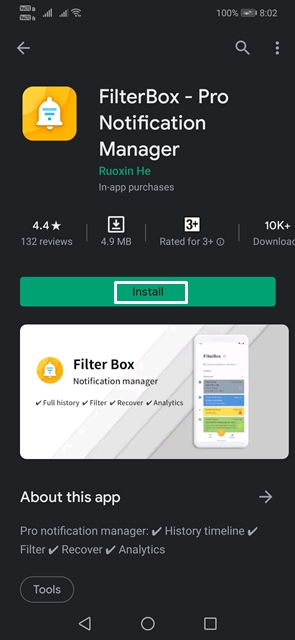 Download and install Filterbox