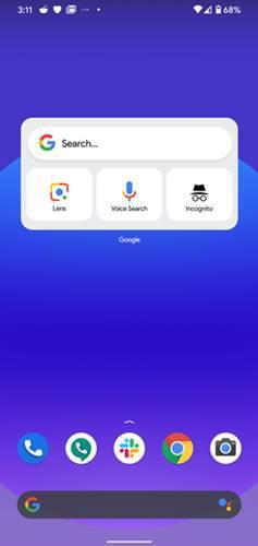 iOS 14 Type Google WIdget on Android