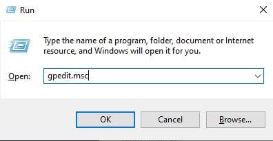 """enter """"gpedit.msc"""""""
