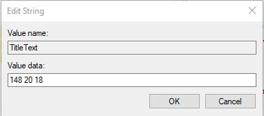 Enter the value and click on 'Ok'
