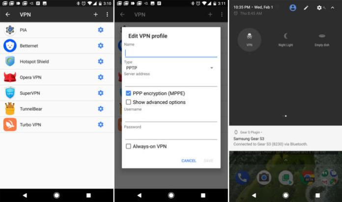 Manual VPNs