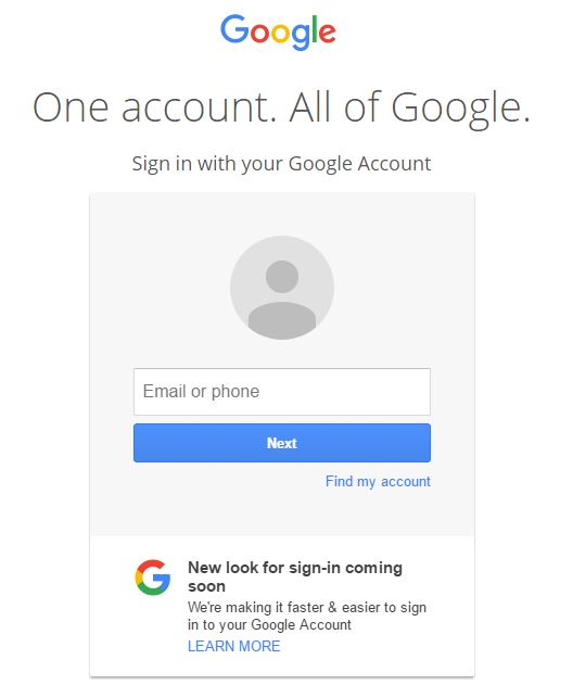 New sign-in experience coming to Google accounts