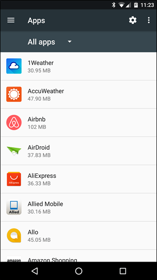 Android Manage Apps