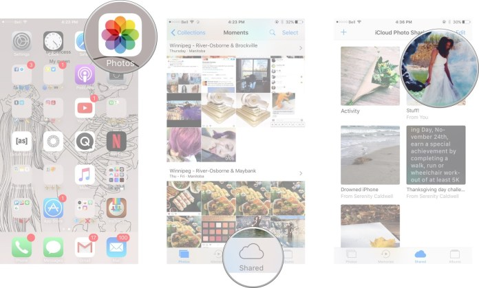How to remove a subscriber from a shared photo album