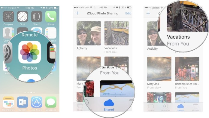 How to share a Photo Stream with people
