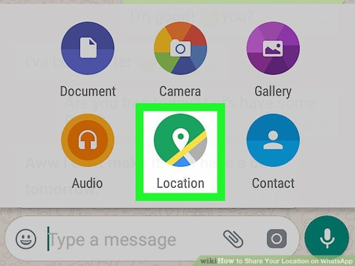 WhatsApp Share your location