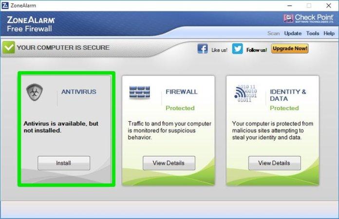 zone alarm antivirus