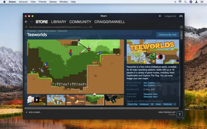 How to use Steam on Mac: Store