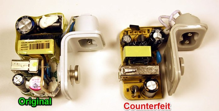 counterfeit charger