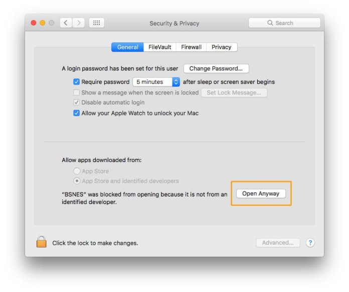 How to open a Mac app from an unidentified developer: Open Anyway button
