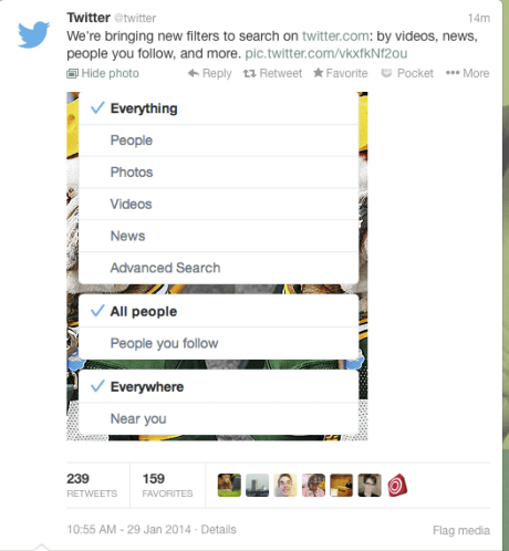 [速報]Twitterが画像と動画検索に対応!#Twitter【@MICKEYTACHIBANA】